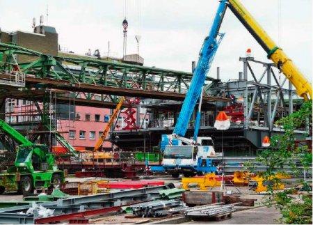 Реконструкция инфраструктуры подвесной монорельсовой дороги в Вуппертале