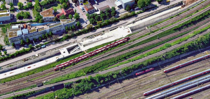 Строительство новой станции Митнахтштрассе S-Bahn Штутгарта
