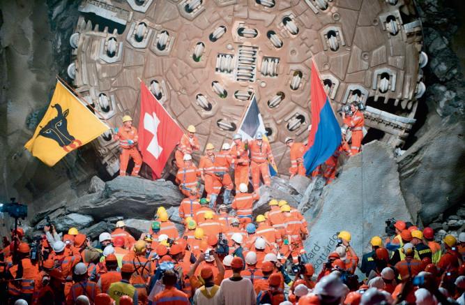 Сбойка в Готардском тоннеле